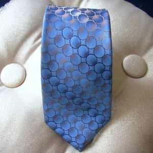 Vintage VAN HEUSEN Men's Tie Blue & Gold